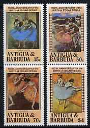 Antigua 1984 Death Anniversary of Edgar Degas (Dancers) set of 4 unmounted mint, SG 883-86*