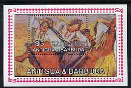 Antigua 1984 Death Anniversary of Edgar Degas (Dancers) m/sheet unmounted mint, SG MS 887