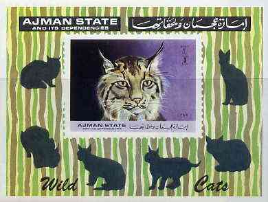 Ajman 1972 Wild Cats imperf m/sheet unmounted mint, Mi BL 360B