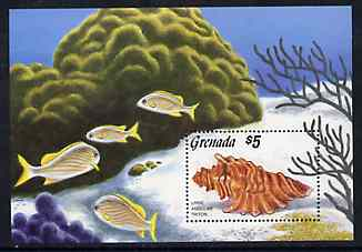 Grenada 1986 Sea Shells m/sheet unmounted mint SG MS 1520