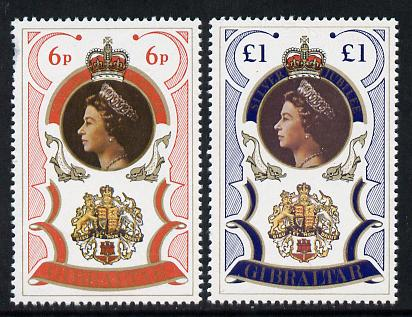 Gibraltar 1977 Silver Jubilee set of 2 unmounted mint, SG 371-2*