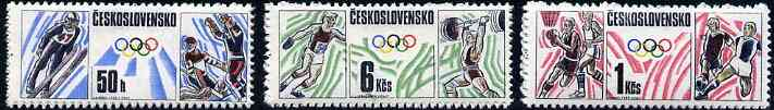 Czechoslovakia 1988  Olympic Games set of 3 unmounted mint, Mi 2941-43*