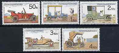 Czechoslovakia 1988  Historic Motor Cars set of 5 unmounted mint, Mi 2947-51*