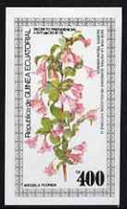 Equatorial Guinea 1979 Flowers (Weigela) 400ek imperf souvenir sheet unmounted mint
