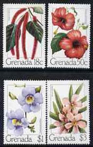 Grenada 1979 Flowers set of 4 unmounted mint, SG 985-88*