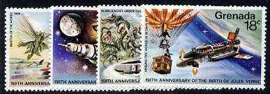 Grenada 1979 Birth Anniversary Jules Verne (Author) set of 4 unmounted mint, SG 996-99*