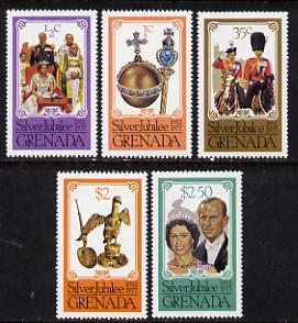 Grenada 1977 Silver Jubilee perf 14 set of 5 from sheets (SG 857-61) unmounted mint