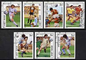 Vietnam 1986 Football World Cup imperf set of 7 cto used (very scarce with only a limited number issued thus) as SG 920-26*