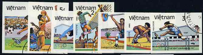 Vietnam 1992 Olympic Games (1984) imperf set of 7 cto used (very scarce with only a limited number issued thus) as SG 1640-46*