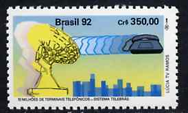 Brazil 1992 Installation of 10,000,00th Telephone unmounted mint, SG 2530*
