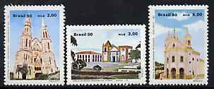 Brazil 1990 Churches set of 3, SG 2403-05 unmounted mint*