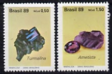 Brazil 1989 Precious Stones set of 2 unmounted mint, SG 2376-77*