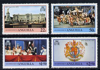Anguilla 1978 Coronation 25th Anniversary set of 4 (SG 320-23) unmounted mint
