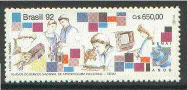 Brazil 1992 National Industrial Training Service unmounted mint SG  2552*