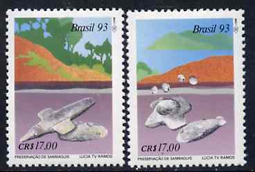 Brazil 1993 Preservation of Archaeological Sites set of 2, SG 2595-96 unmounted mint*