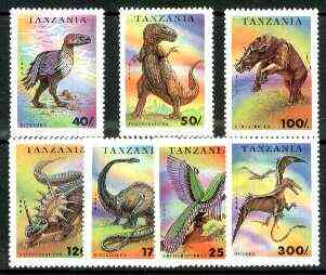 Tanzania 1994 Prehistoric Animals perf set of 7 unmounted mint, SG 1799-1805*