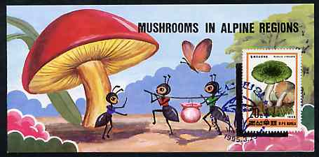 Booklet - North Korea 1995 Fungi in Alpine Regions 2 won booklet containing pane of 10 x 20 jons
