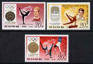 North Korea 1978 Gymnastics the 3 x 20ch values from the History of Olympics set of 15 unmounted mint (SG N 1753, 1761 & 1766)