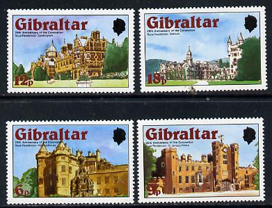 Gibraltar 1978 Coronation 25th Anniversary set of 4 (SG 400-3) unmounted mint