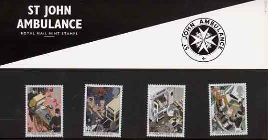 Great Britain 1987 Centenary of St John Ambulance Service set of 4 in official presentation pack, SG 1359-62