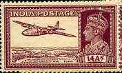 India 1940-43 KG6 Armstrong Whitworth 14a purple unmounted mint but light overall toning, SG 277*