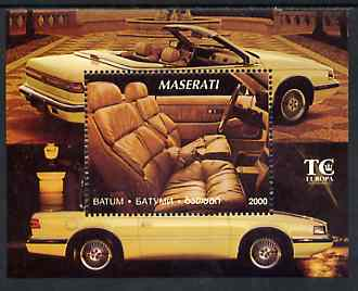 Batum 1995 Cars (Maserati) perf m/sheet unmounted mint
