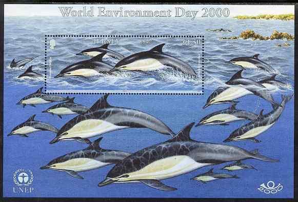 Jersey 2000 World Environment Day - Marine Mammals perf m/sheet unmounted mint, SG MS953