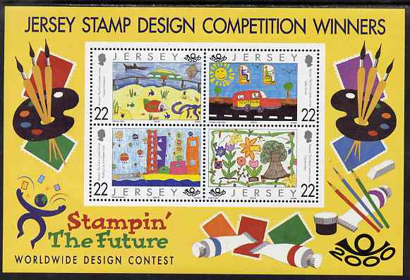 Jersey 2000 Stampin' the Future (children's stamp design competition) Winners perf m/sheet unmounted mint, SG MS933