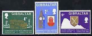 Gibraltar 1969 Commonwealth Parliamentary Association set of 3, SG 233-35 unmounted mint*