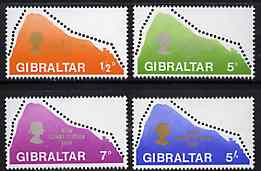 Gibraltar 1969 New Constitution (Rock Shaped) set of 4 unmounted mint, SG 236-39*