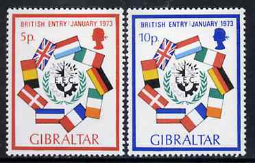 Gibraltar 1973 Britain's Entry into EEC set of 2, SG 308-09 unmounted mint*