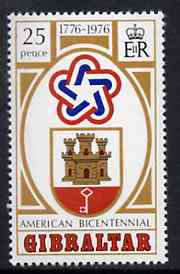 Gibraltar 1976 Bicentenary of American Revolution unmounted mint, SG 361*