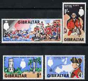 Gibraltar 1967 General Eliott perf set of 4 unmounted mint, SG 219-22*