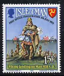 Isle of Man 1973 Inauguration of Postal Service (Viking) unmounted mint SG 34*