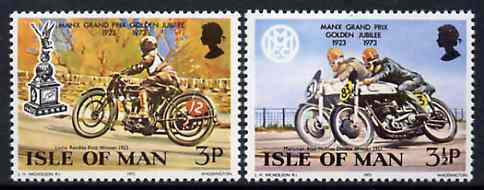 Isle of Man 1973 Golden Jubilee of Manx Grand Prix set of 2 unmounted mint, SG 39-40*