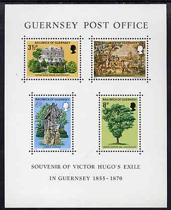 Guernsey 1975 Victor Hugo's Exile m/sheet unmounted mint, SG MS 130