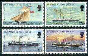 Guernsey 1972 Mail Packet Boats #1 set of 4 unmounted mint, SG 67-70*