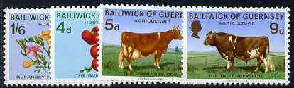 Guernsey 1970 Agriculture & Horticulture set of 4 unmounted mint, SG 36-39
