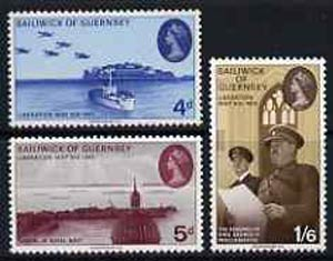 Guernsey 1970 25th Anniversary of Liberation set of 3 unmounted mint, SG 33-35