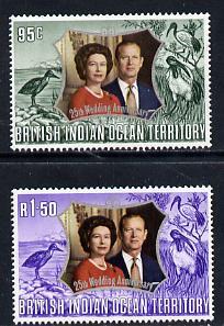 British Indian Ocean Territory 1972 Royal Silver Wedding set of 2 unmounted mint, SG 45-6
