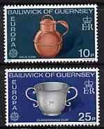 Guernsey 1976 Europa - Drinking Vessels set of 2, SG 139-40* (sheetlets of 9 available price pro-rata) unmounted mint