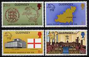Guernsey 1974 UPU Centenary set of 4 unmounted mint, SG 114-17*