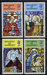 Guernsey 1973 Christmas (Stained Glass Windows) set of 4 unmounted mint, SG 89-92*