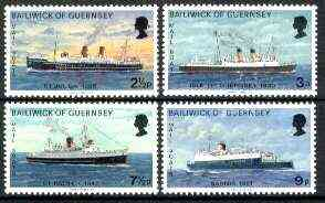 Guernsey 1973 Mail Packet Boats #2 set of 4 unmounted mint, SG 80-83*
