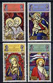 Guernsey 1972 Royal Silver Wedding & Christmas (Stained Glass Windows) set of 4 unmounted mint, SG 76-79*