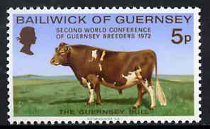 Guernsey 1972 World Conference of Guernsey Breeders unmounted mint, SG 71*