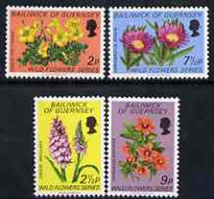 Guernsey 1972 Wild Flowers set of 4 unmounted mint, SG 72-75*