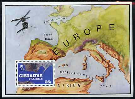 Gibraltar 1978 Gibraltar from Space m/sheet unmounted mint, SG MS 399