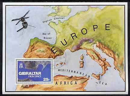 Gibraltar 1978 Gibraltar from Space m/sheet superb cds used, SG MS 399