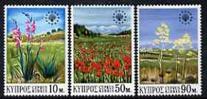 Cyprus 1970 European Conservation Year set of 3 unmounted mint, SG 348-50*